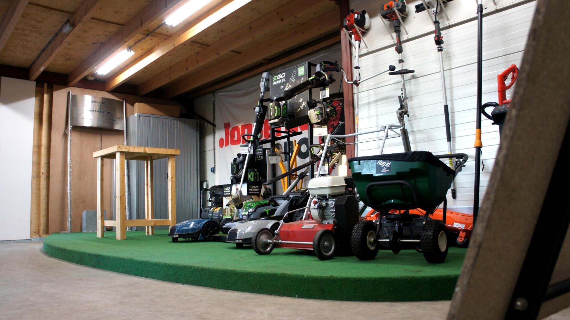 Spilleman showroom grasmaaiers robotmaaiers